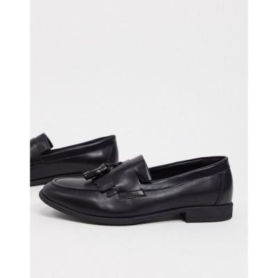 ニュールック New Look メンズ ローファー シューズ・靴 tassel loafer in black ブラック