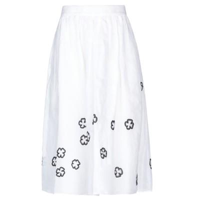 ジュップバイジャッキー JUPE by JACKIE 7分丈スカート ホワイト M コットン 100% 7分丈スカート