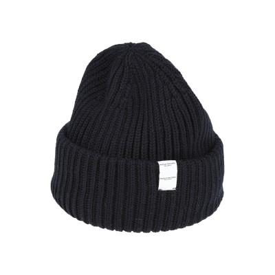 パオロ ペコラ PAOLO PECORA 帽子 ダークブルー one size バージンウール 100% 帽子