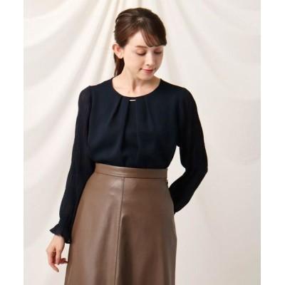 Couture Brooch/クチュールブローチ マジョリカプリーツ袖ブラウス ネイビー(093) 38(M)