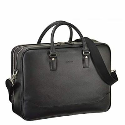 ビジネスバッグ メンズ ブリーフケース B4 A4 2ルーム 2室式 ショルダー付き 2way 黒 ブラック 通勤 ビジネス 横幅42cm