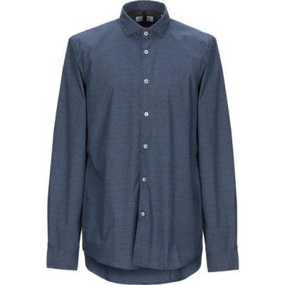 アレイドックス ALLEY DOCKS 963 メンズ シャツ トップス Patterned Shirt Dark blue