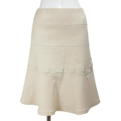 フォクシー FOXEY ベージュ リボン スカート 40