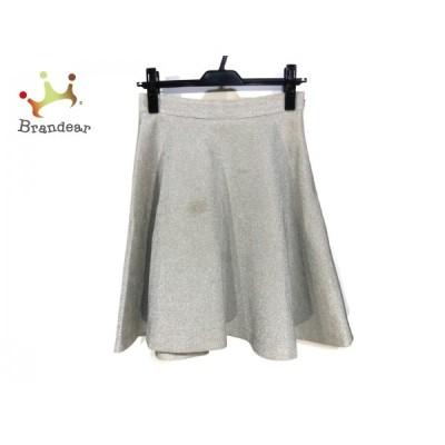ダイアグラム Diagram GRACE CONTINENTAL スカート サイズ36 S レディース - シルバー ひざ丈   スペシャル特価 20210222