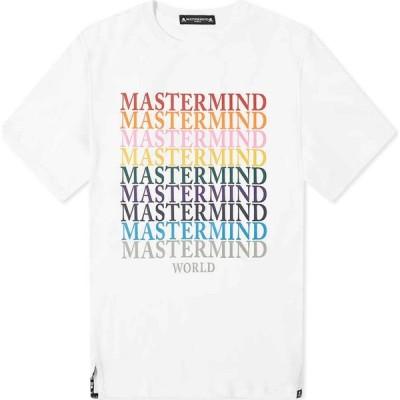 マスターマインド MASTERMIND WORLD メンズ Tシャツ ロゴTシャツ トップス Multi Logo Tee White