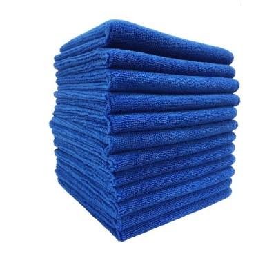 TARO WORKS マイクロファイバー洗車クロス クリーニングタオル 業務用 吸水 速乾 激落ち 掃除 万能 12枚入 ブルー