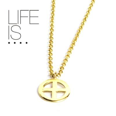 LIFE IS.... ネックレス メディスンホイール 10Kゴールド MEDICINE WHEEL NECKLACE ライフイズ