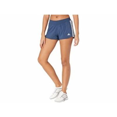 (取寄)アディダス レディース ペイサー 3ストライプ ウーブン ショーツ adidas Women's Pacer 3-Stripes Woven Shorts Crew Navy/White