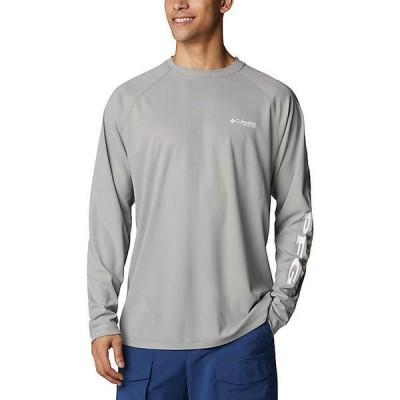 (取寄)コロンビア メンズ ターミナル ディフレクター ロングスリーブ シャツ Columbia Men's Terminal Deflector LS Shirt City Grey / White 送料無料