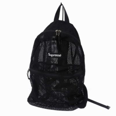 【中古】シュプリーム SUPREME 16SS MESH BACK PACK ボックスロゴ メッシュ リュック バックパック ブラック 黒