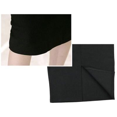 (ハベリィ)?Haberry? シンプル タイト ペンシル スカートひざ下丈 スリット レディース (M, ブラック)