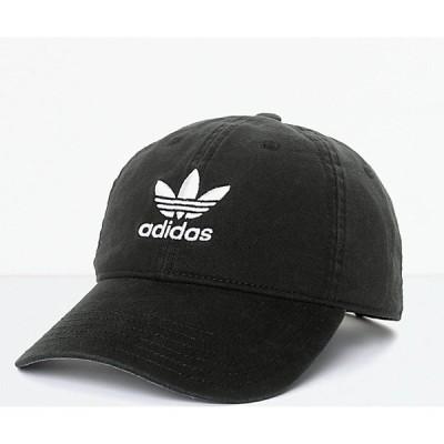 アディダス ADIDAS メンズ キャップ スナップバック 帽子 adidas Trefoil Curved Bill Black Strapback Hat Black