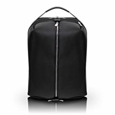"""McKlein South Shore, 1680D Ballistic Nylon with Leather Trim, 17"""" Nylon, Carry-All, Laptop & Tablet Overnight Backpack, Black (7"""