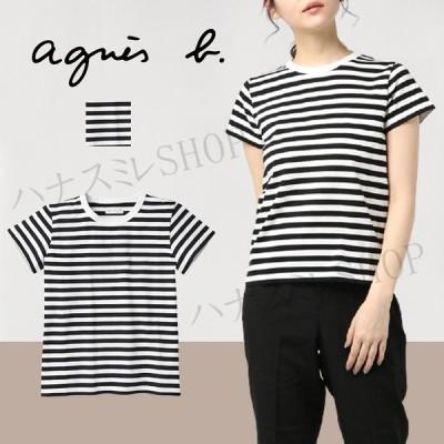 母の日 アニエスベー agnes b. レディース Tシャツ 半袖 カットソー ロゴTシャツ セット購入可能