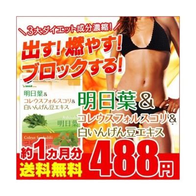 明日葉 アフリカマンゴノキ 白いんげん豆エキス 約1ヵ月分 ダイエット サプリ サプリメント