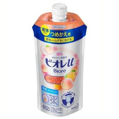 ビオレu スイートピーチの香り つめかえ用 340ml 花王株式会社