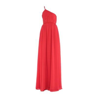 ランバン LANVIN ロングワンピース&ドレス レッド 36 シルク 100% ロングワンピース&ドレス