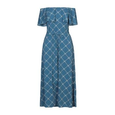 SIYU 7分丈ワンピース・ドレス ブルー 40 ナイロン 72% / ポリウレタン 28% 7分丈ワンピース・ドレス