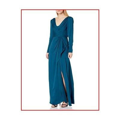 【新品】BCBGMAXAZRIA Women's Cascading Ruffle Gown, Poseidon, 4【並行輸入品】