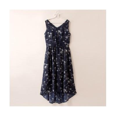 【大きいサイズ】 薄手素材花柄ロングワンピース ワンピース, plus size dress