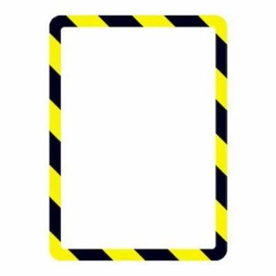 tarifold 194974 安全標識用ディスプレイポケット 粘着タイプ A4 2枚入り 危険
