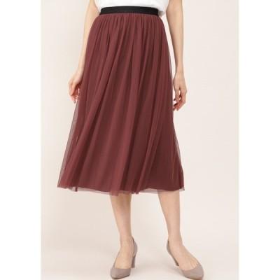 スカート チュールリバースカート