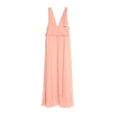 レリッシュ RELISH ロングワンピース&ドレス あんず色 XS ポリエステル 100% ロングワンピース&ドレス