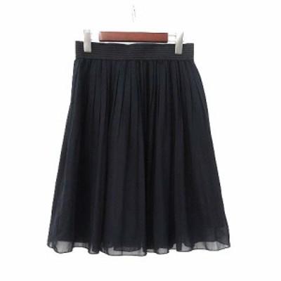 【中古】イノウェーブ innowave スカート M 黒 ブラック プリーツ フレア 美品 レディース