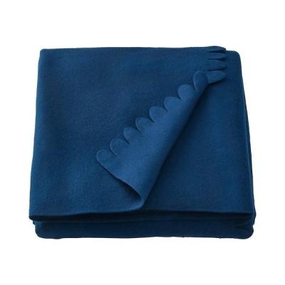 【IKEA】POLARVIDE/ポーラヴィーデ ひざ掛け ダークブルー130x170 cm