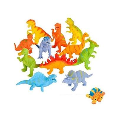 Shop Zoombie ストレッチ恐竜12個 4インチと1 恐竜消しゴム パーティー用品 クリスマスプレゼントに イースターバスケット 知覚玩具 先