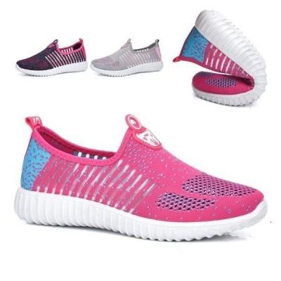 サボサンダル歩きやすいフラットシューズ夏新作レディーススポーツシューズウォーキングランニングメッシュ靴疲れにくい歩きやすい通気性