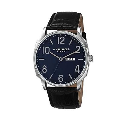 腕時計 アクリボスXXIV メンズ AK801BU Akribos XXIV Men's Canvas Classic Watch - Clear Arabic Numeral