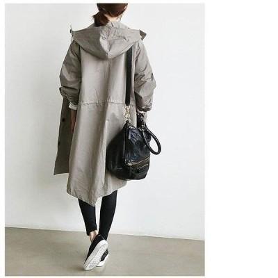 通勤 秋 大人  ジャケット OL 30代40代 オシャレ 韓国風 コート アウター ウインドブレーカー 女性 ゆったり ロングコート レディース 503