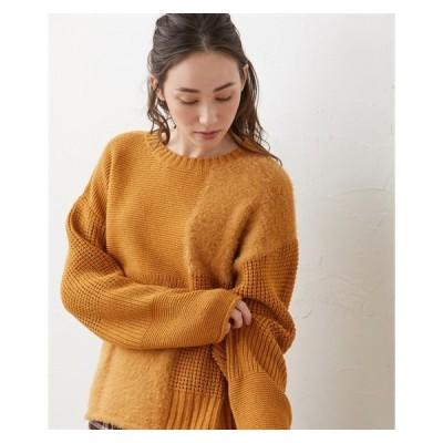 セーター ニット 大きいサイズ レディース ブロック 切替 プルオーバー 冬 LL/3L ニッセン nissen