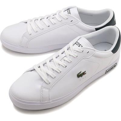 ラコステ LACOSTE スニーカー パワーコート M POWER COURT 0520 1 SM00600-1R5 FW20 メンズ ローカットシューズ 靴 WHT DK GRN ホワイト系
