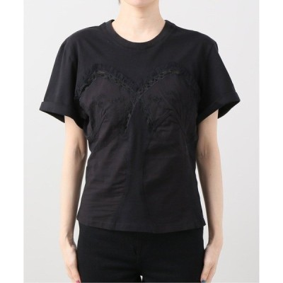 tシャツ Tシャツ MES DEMOISELLES main フリルレースTEE