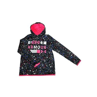 Under Armour Youth Big Girls Athletic Hoodie Pullover 1318318 (Black Multi,インポート 送料無料