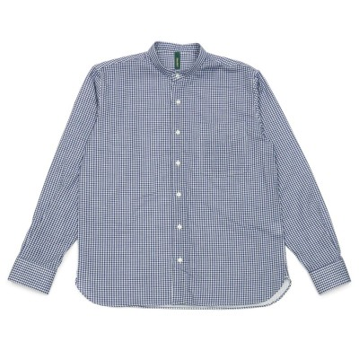 トーキョーシャツ TOKYO SHIRTS 形態安定ノーアイロン Wガーゼ ラウンドテールシャツ スタンド 長袖ビジネスワイシャツ (ネイビー)