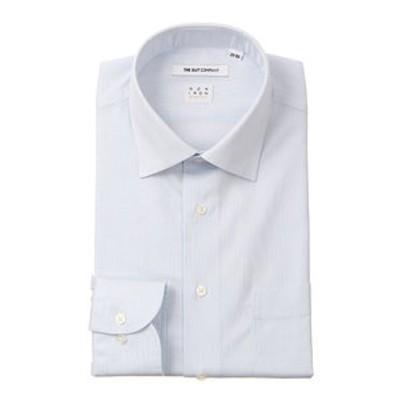 【NON IRON STRETCH】ワイドカラードレスシャツ ストライプ 〔EC・FIT〕
