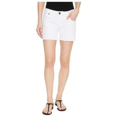 カットフロムザクロス レディース ハーフ&ショーツ ボトムス Gidget Fray Shorts in Optic White Optic White