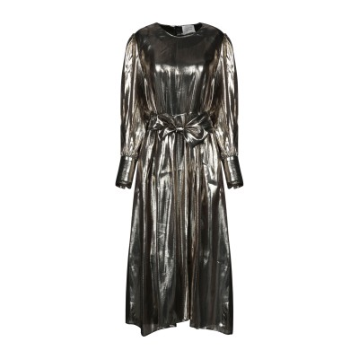 LES COYOTES DE PARIS 7分丈ワンピース・ドレス ゴールド 40 シルク 65% / 金属 35% 7分丈ワンピース・ドレス