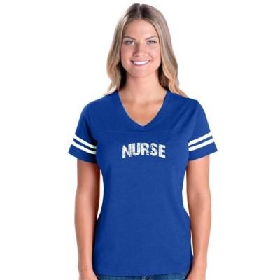 レディース 衣類 トップス Womens Nurse Football V-Neck T-Shirt Tシャツ