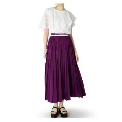 スカート Belted Pleated Skirt