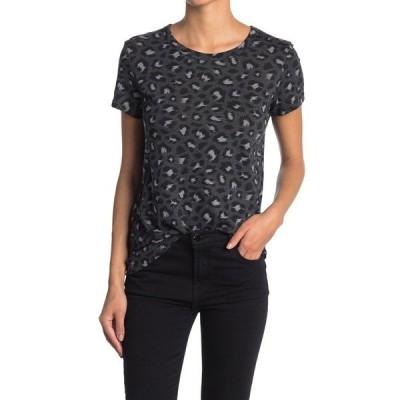 オルタナティヴ レディース Tシャツ トップス Ideal Print Lounge T-Shirt DARK GREY LEOPARD