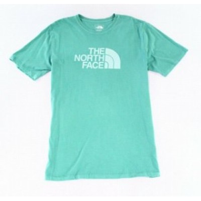 North Face ノースフェイス ファッション トップス The North Face Mens T-Shirt Green Size Large L Logo Graphic-Print Tee