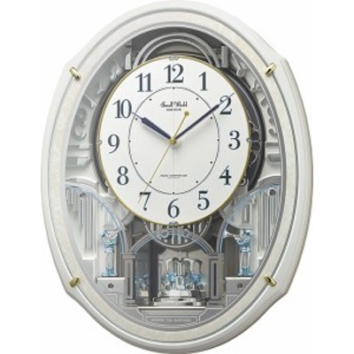 からくり時計 壁掛け時計 スモールワールド アルディN 4MN553RH03 リズム時計  名入れ 送料無料 ギフト お洒落 掛け時計