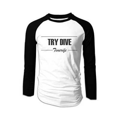 EOEXKS Try Dive Man T-Shirts Casual Long Sleeve Active Lightweight Shirt Bl