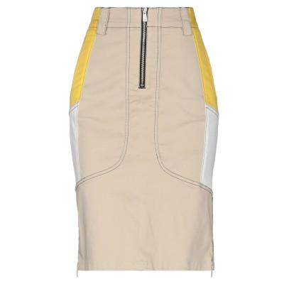 P_JEAN ひざ丈スカート ベージュ 40 コットン 96% / ポリウレタン 4% ひざ丈スカート