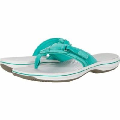 クラークス Clarks レディース ビーチサンダル シューズ・靴 Breeze Sea Green Synthetic