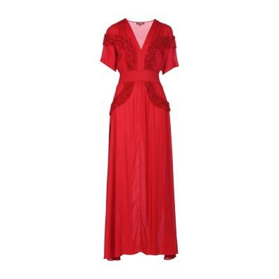 STAUD ロングワンピース&ドレス レッド XS レーヨン ロングワンピース&ドレス